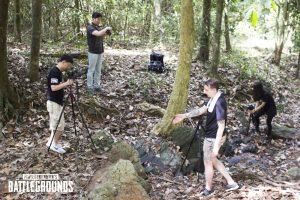 equipe tirando fotos