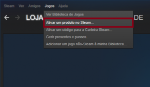 Steam - Ativar um produto