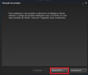Steam - Confirmar a ativação do produto