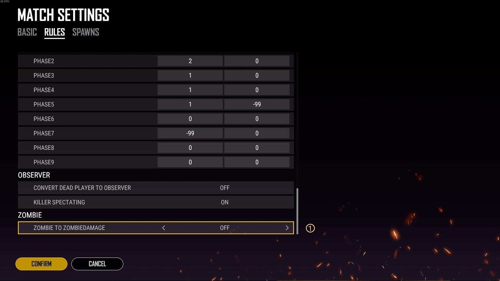 Interface de configuração do Custom Mode