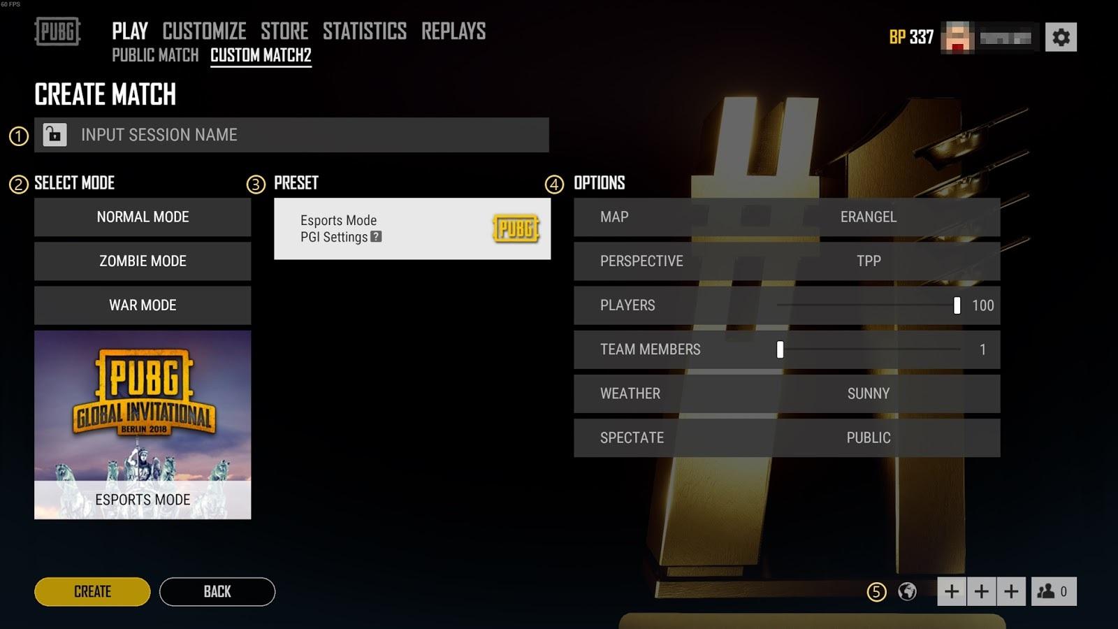 Criando esports Mode: Custom Match