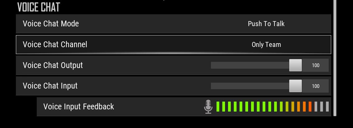 Configuração do mic