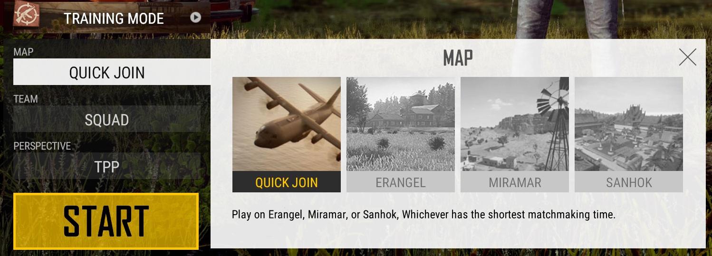 Novo Sistema de seleção de mapa