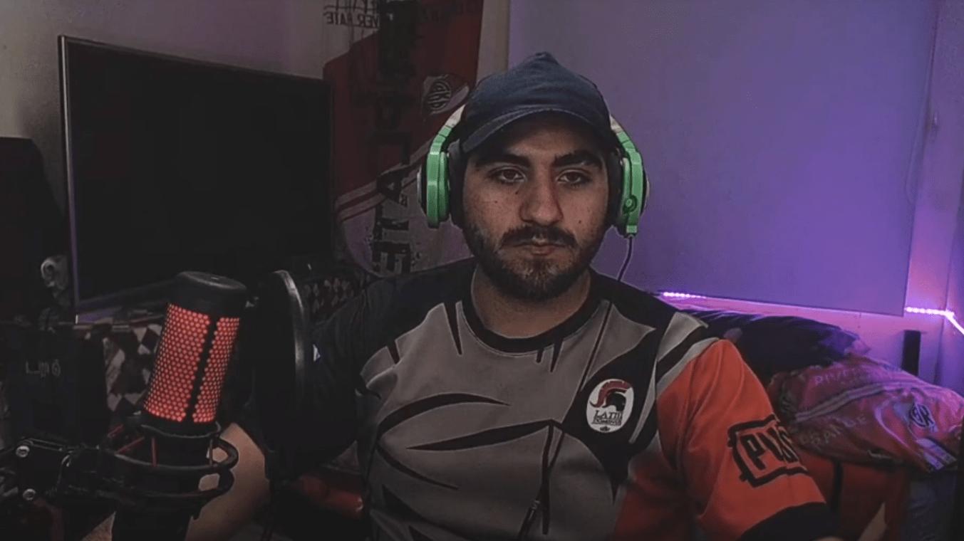 Jogador argentino de PUBG PIPAA, da Latin Dominus, em entrevista