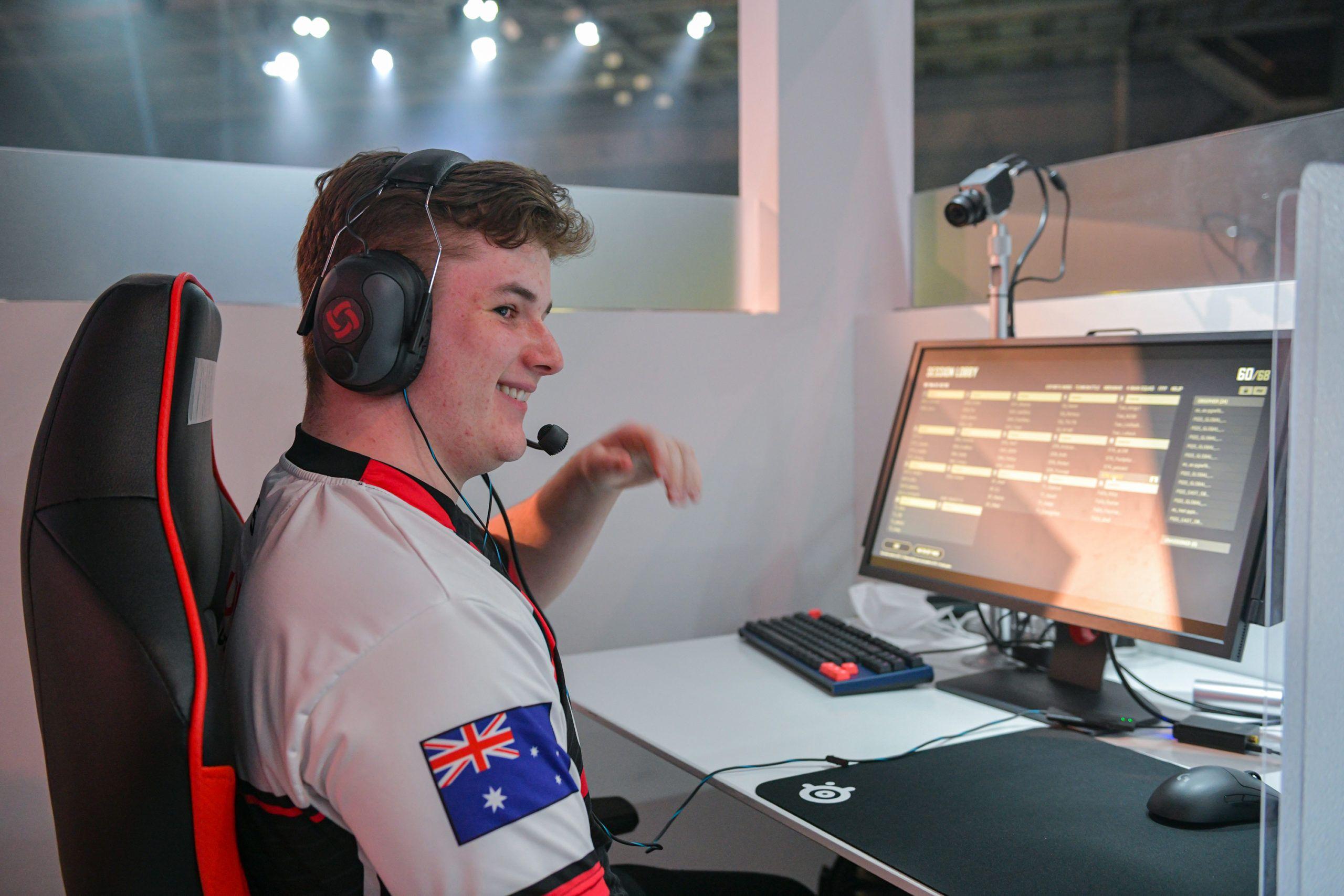 Jogador australiano de PUBG luke12 no PUBG Global Invitational S, na Coreia do Sul
